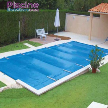 Bâche à barres piscine Securit Pool Excel bleu opaque