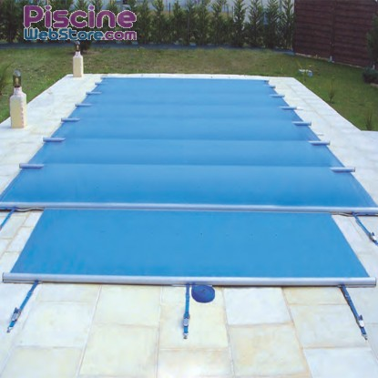 Bâche à barres Securit Pool Summum bleu opaque