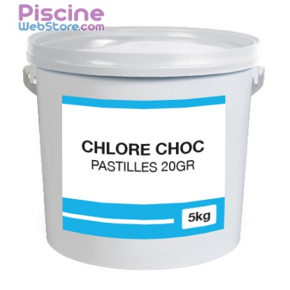 1er prix chlore choc pastilles 20gr 5kg. Black Bedroom Furniture Sets. Home Design Ideas