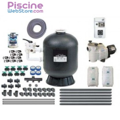 Kit filtration piscine quick pack quick pack plus for Kit filtration piscine