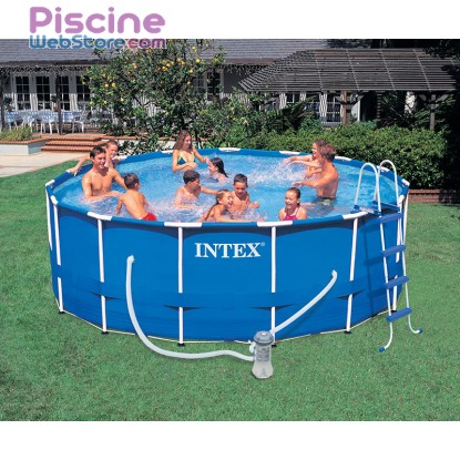 Piscine tubulaire Metal Frame Intex 457 x 122