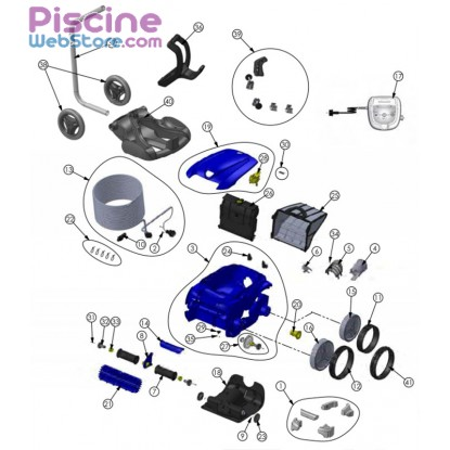 Pi ces d tach es robot piscine zodiac rv 4400 vortex for Pieces detachees robot piscine zodiac