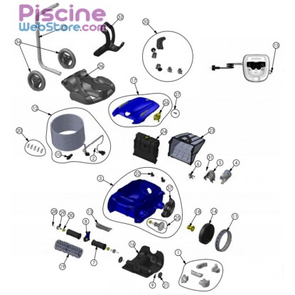 pi ces d tach es robot piscine zodiac rv 5400 vortex. Black Bedroom Furniture Sets. Home Design Ideas
