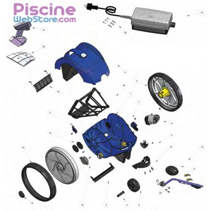 pi ces d tach es robot piscine zodiac vortex 1. Black Bedroom Furniture Sets. Home Design Ideas