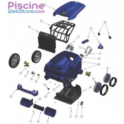 Pi ces d tach es robot piscine zodiac vortex 3 - Pieces detachees piscine ...