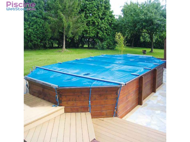 B che barres piscine securit pool hors sol woody for Fabrication enrouleur bache piscine