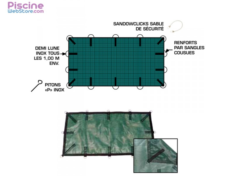 B che hiver de s curit filet menuires safe pour piscine - Filet securite piscine ...
