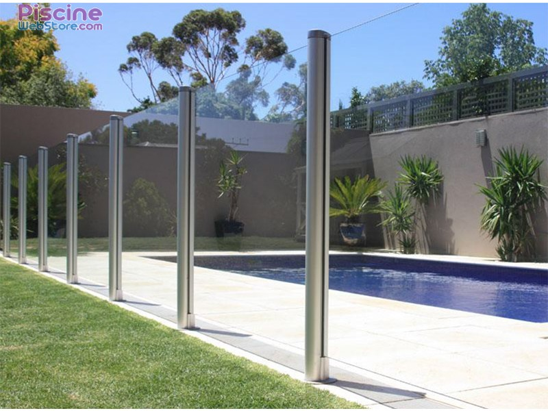 Barri re de s curit piscine en verre aluminium for Barriere de piscine en verre