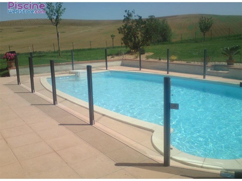 Barri re de s curit piscine en verre aluminium for Protection enfant piscine