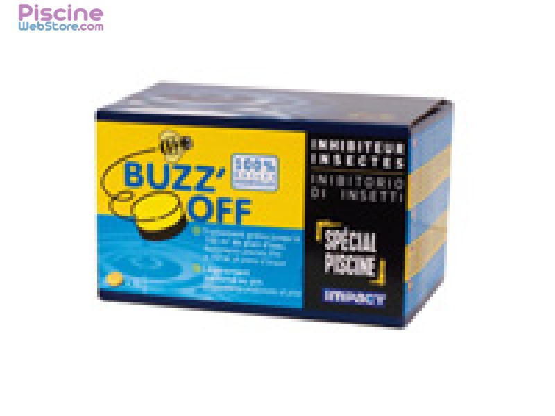 r pulsif d 39 insectes en pastilles buzz 39 off impact pour piscine. Black Bedroom Furniture Sets. Home Design Ideas