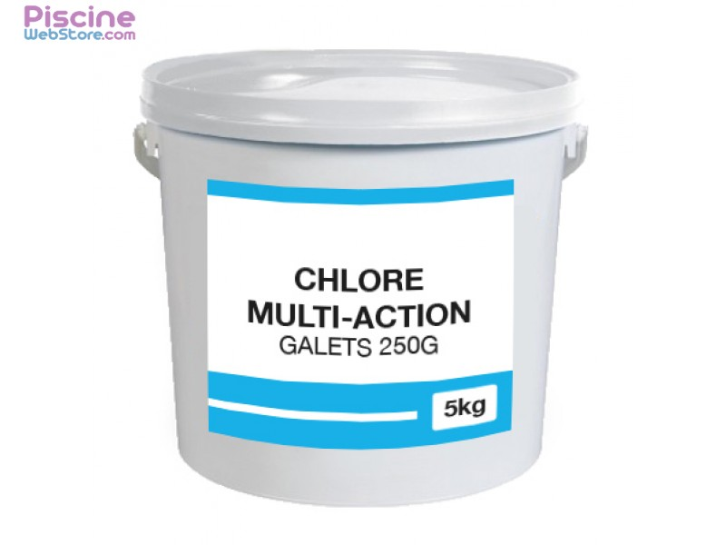 1er prix chlore multi galets 250gr 5kg for Chlore piscine
