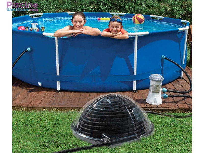 Pin piscine aquadome on pinterest for Chauffer une piscine solaire