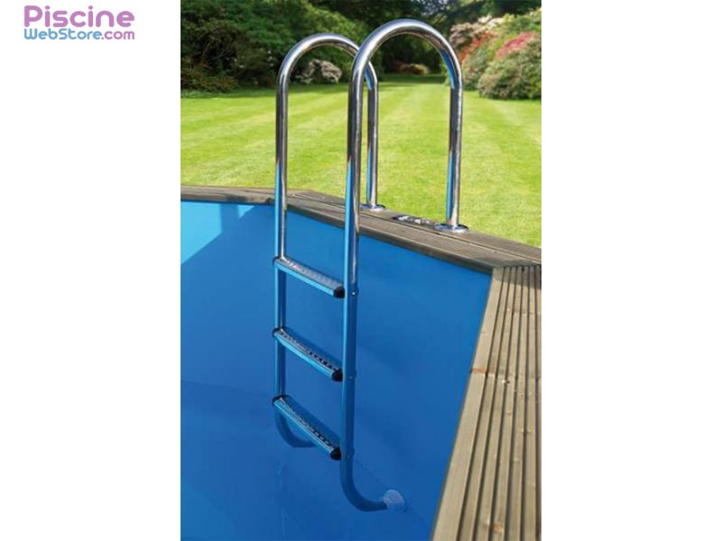 Chelle piscine int rieure inox ubbink 3 marches for Piscine hors sol d occasion