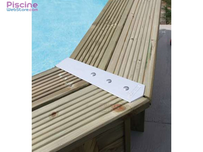 Kit finition margelles alu ubbink pour piscine bois for Type de margelle piscine