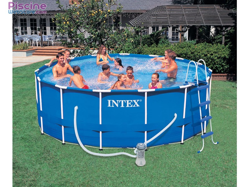 Piscine tubulaire la piscine intex metal frame for Piscine intex 4 57 x 1 22