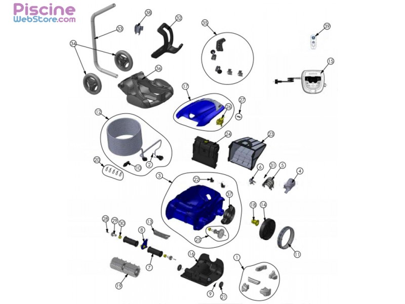 Pi ces d tach es robot piscine zodiac rv 5500 vortex - Pieces detachees piscine ...