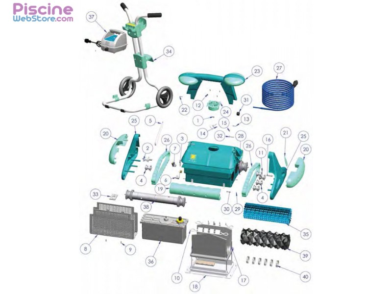Pi ces d tach es robot piscine zodiac indigo for Pieces detachees robot piscine zodiac