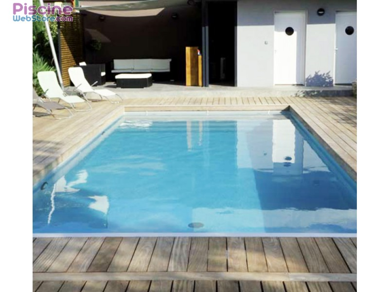 Kit piscine complet 8 x 4 x h1 50m en blocs polystyr ne for Piscine bois rectangulaire 3x6