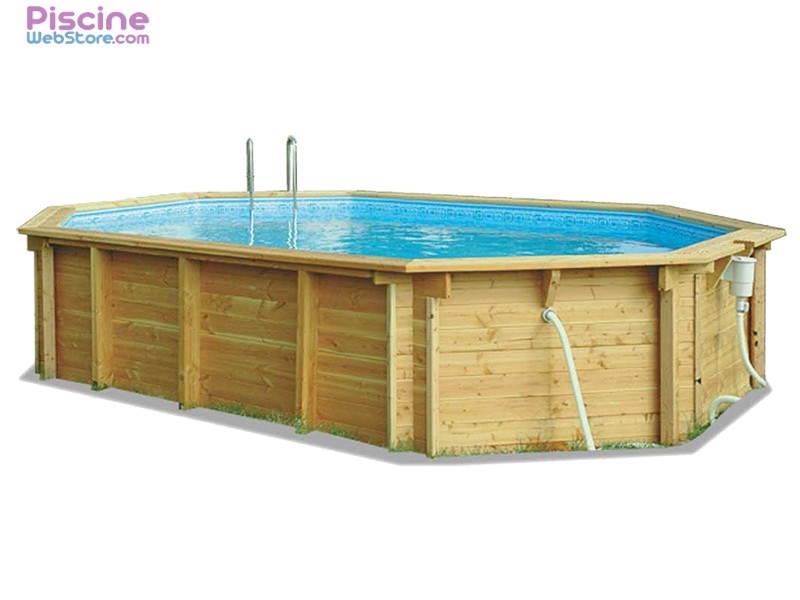 Piscine hors sol bois bilbao octogonale allong e for Catalogue piscine bois