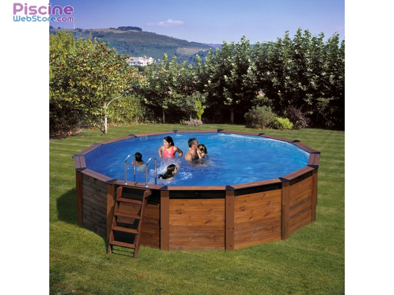 Piscine hors sol bois gr hawaii for Piscine gre hors sol