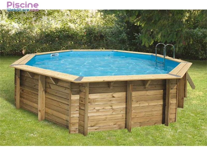 Piscine bois ubbink ocea 5 10 x h1 20m for Destockage piscine bois
