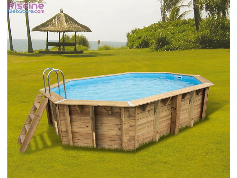 Piscine bois ubbink ocea 5 50 x 3 55m for Destockage piscine bois