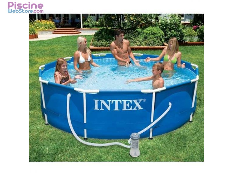piscine tubulaire intex metal frame rectangulaire intex rectangular metal frame pool intex. Black Bedroom Furniture Sets. Home Design Ideas