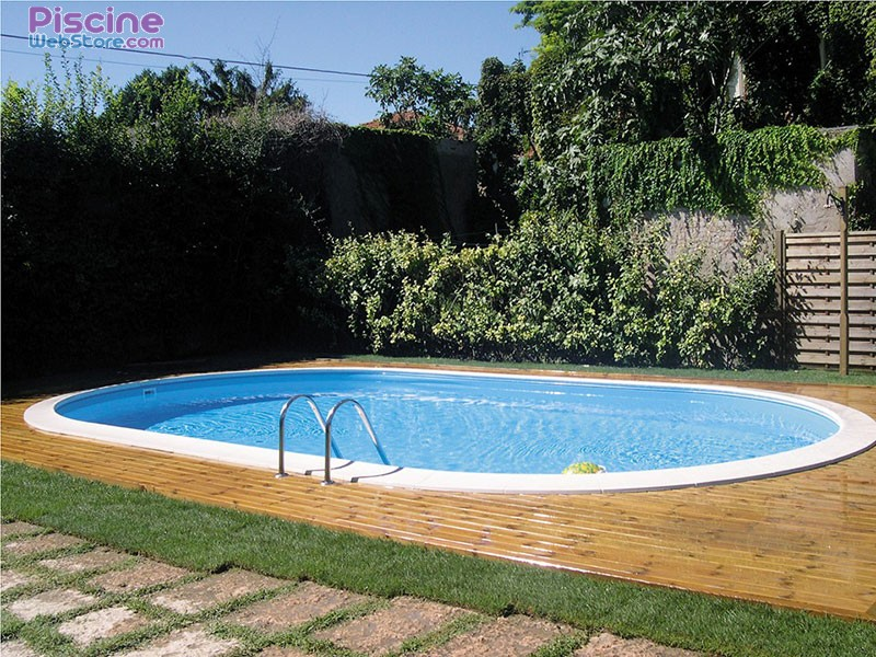 Piscine enterr e acier ovale for Piscine galvanise