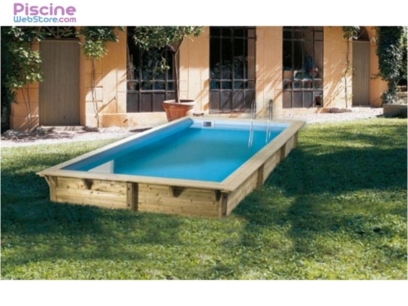 Piscine bois 4 x 2 for Piscine rectangulaire rigide