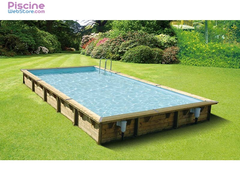 Piscine bois ubbink linea 8 00 x 5 00 x h1 40m for Catalogue piscine bois