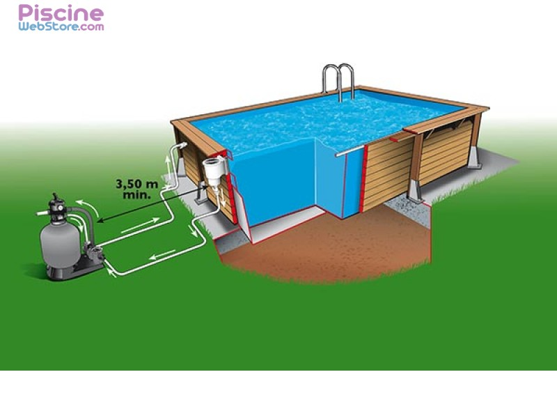 Piscine bois ubbink azura 5 05 x 3 50m for Chauffer une piscine