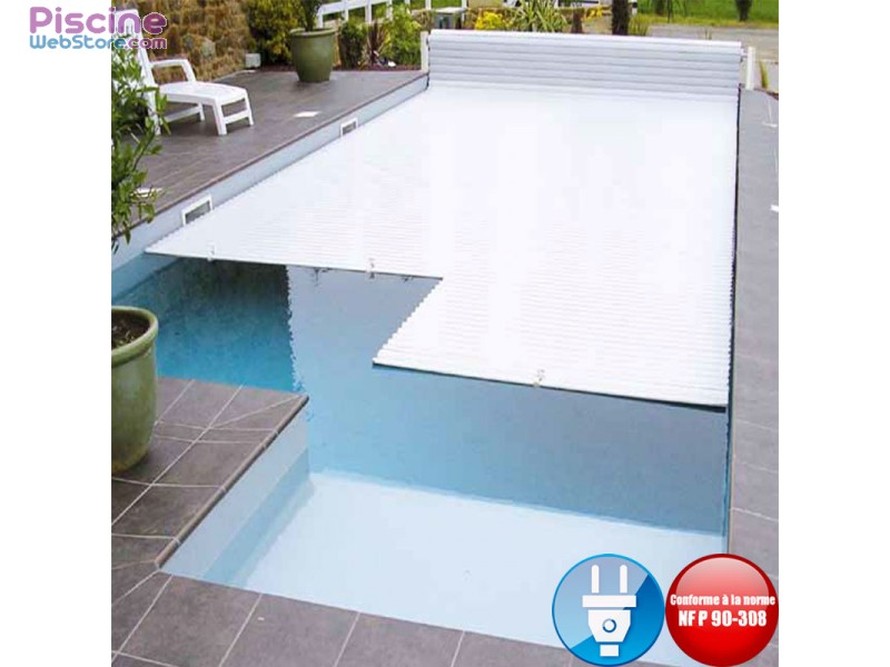 Volet de piscine lectrique hors sol sans fin de course for Volet piscine