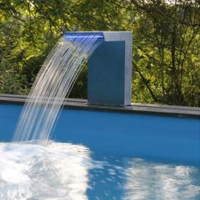Cascade Straight LED Ubbink pour piscine ou bassin