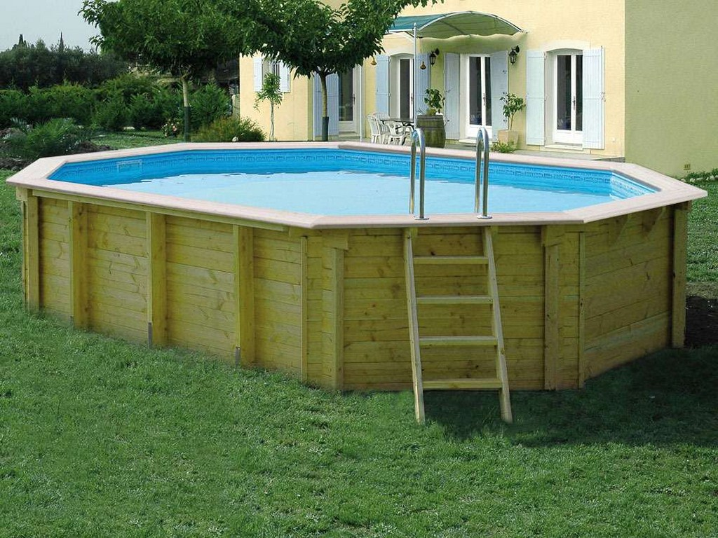 Piscine hors sol 6x4 for Piscine octogonale bois