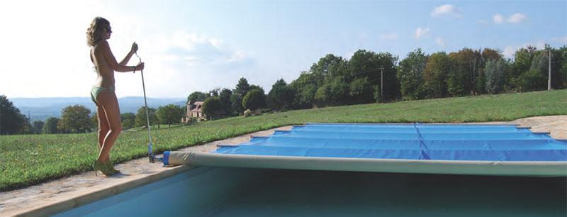 Manivelle manuelle pour b che barres securit pool for Support bache a barre piscine