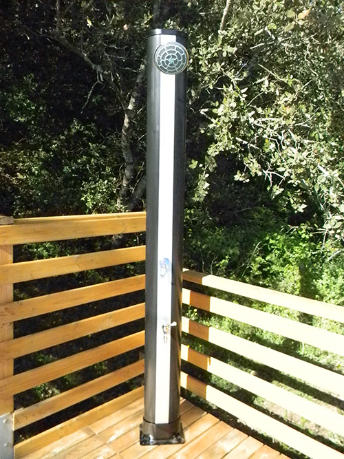 Douche solaire droite 34l - Douche solaire exterieur ...