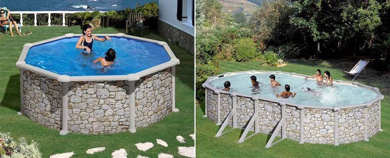 Piscine acier hors sol gr skyathos - Gre piscine hors sol ...