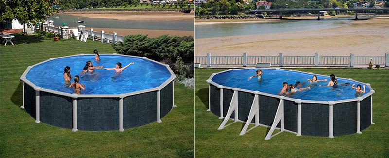 piscine acier hors sol ronde gr rattan
