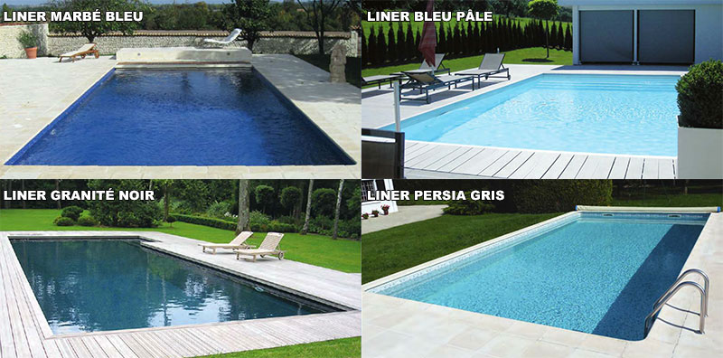Liner piscine sur mesure for Liner pour piscine en 8
