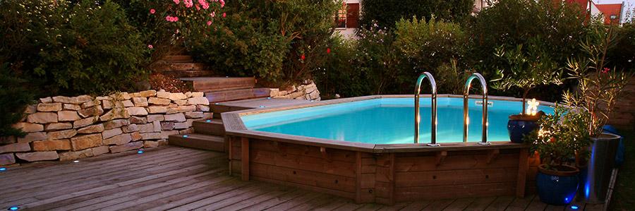 piscine bois ubbink le joyau de votre jardin. Black Bedroom Furniture Sets. Home Design Ideas