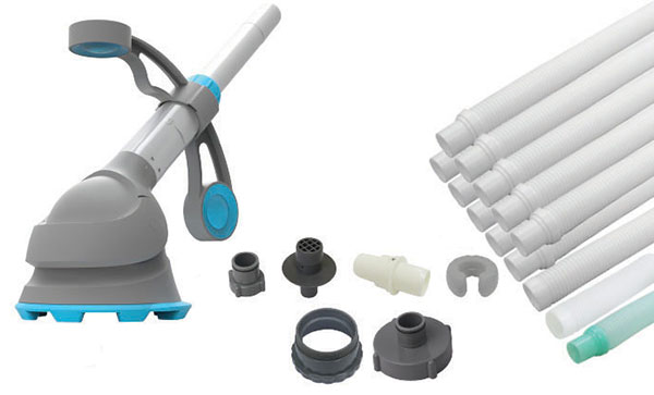 Robot piscine hydraulique krill kokido pour petite for Tuyau nettoyage piscine