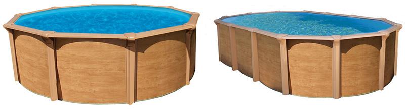 piscine hors sol abak osmose aspect bois piscine hors sol metal aspect bois with piscine hors sol acier imitation bois - Piscine Hors Sol Metal Aspect Bois