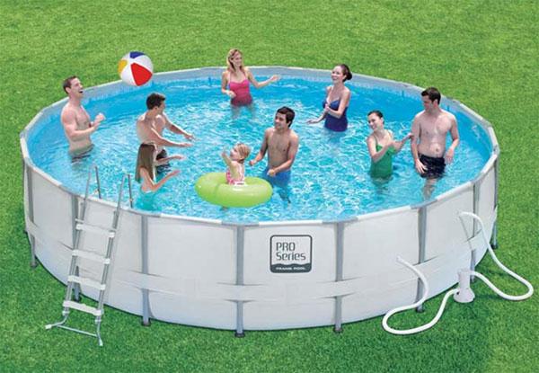 kit piscine tubulaire pro series 4,57 x 1,22m avec filtration à sable
